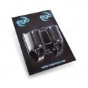 2 pk. EGO silikon Biogrep (Rett) Svart - opp til 19mm Tubes