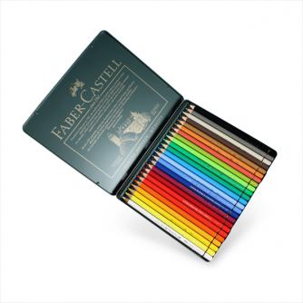 Faber-Castell - Skrin med 24 Polychromos Artists' fargeblyanter
