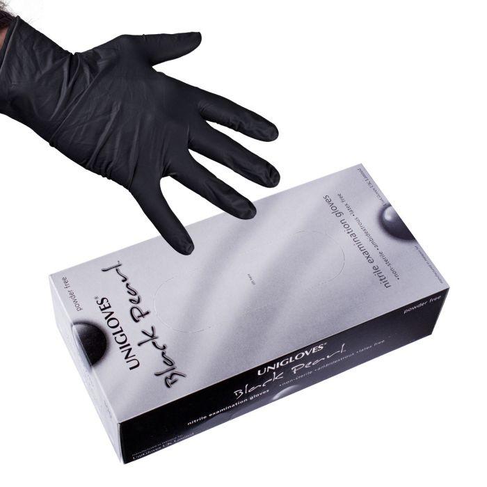 100 stk. Uniglove Black Pearl nitrilehansker
