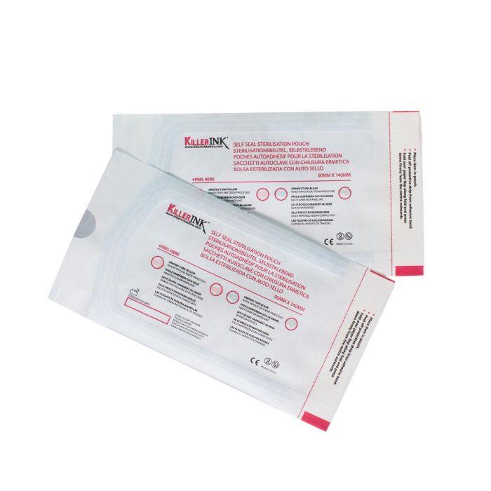 200 stk. Killer Ink autoklav selvlukkende steriliseringsposer