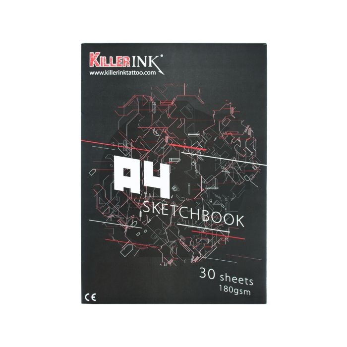 Killer Ink 63GSM Tracing papir blokk A3 eller A4 (50 Ark)