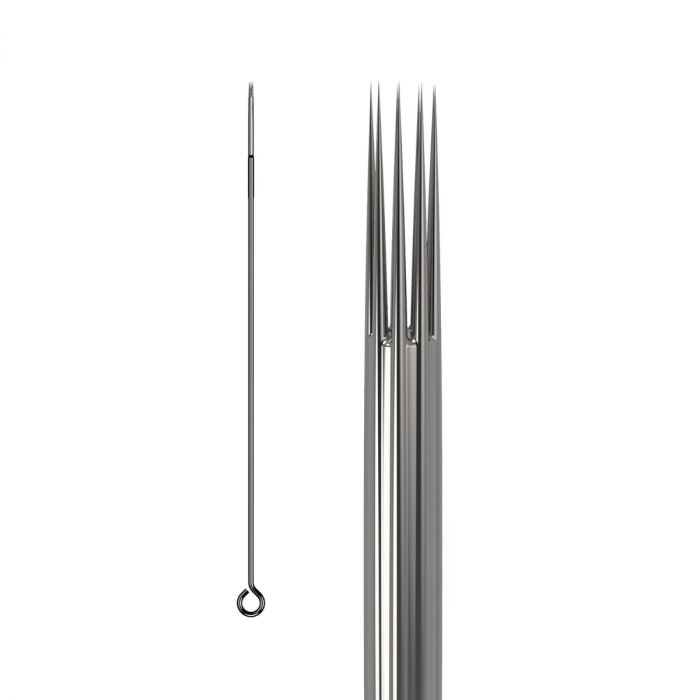 50 stk. KWADRON 0.40mm tatoveringsnål LONG TAPER - Round Shader