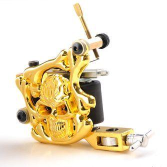 Gold Skull Liner/Shader tatoveringmaskin