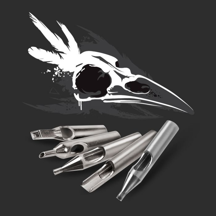 Killer Ink 36 deler 316 Rustfritt ståltip Round, Diamond + Magnum Premium Set